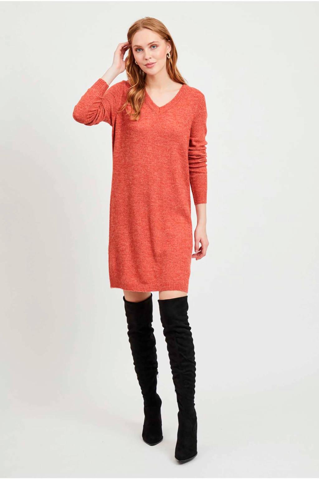 VILA jersey jurk rood, Rood