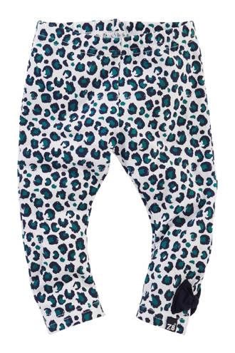 legging Teddie met dierenprint wit/groen