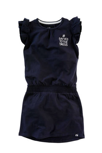 jurk Tineke met tekst blauw