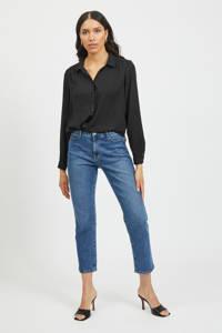 VILA blouse met plooien VILUCY zwart, Zwart