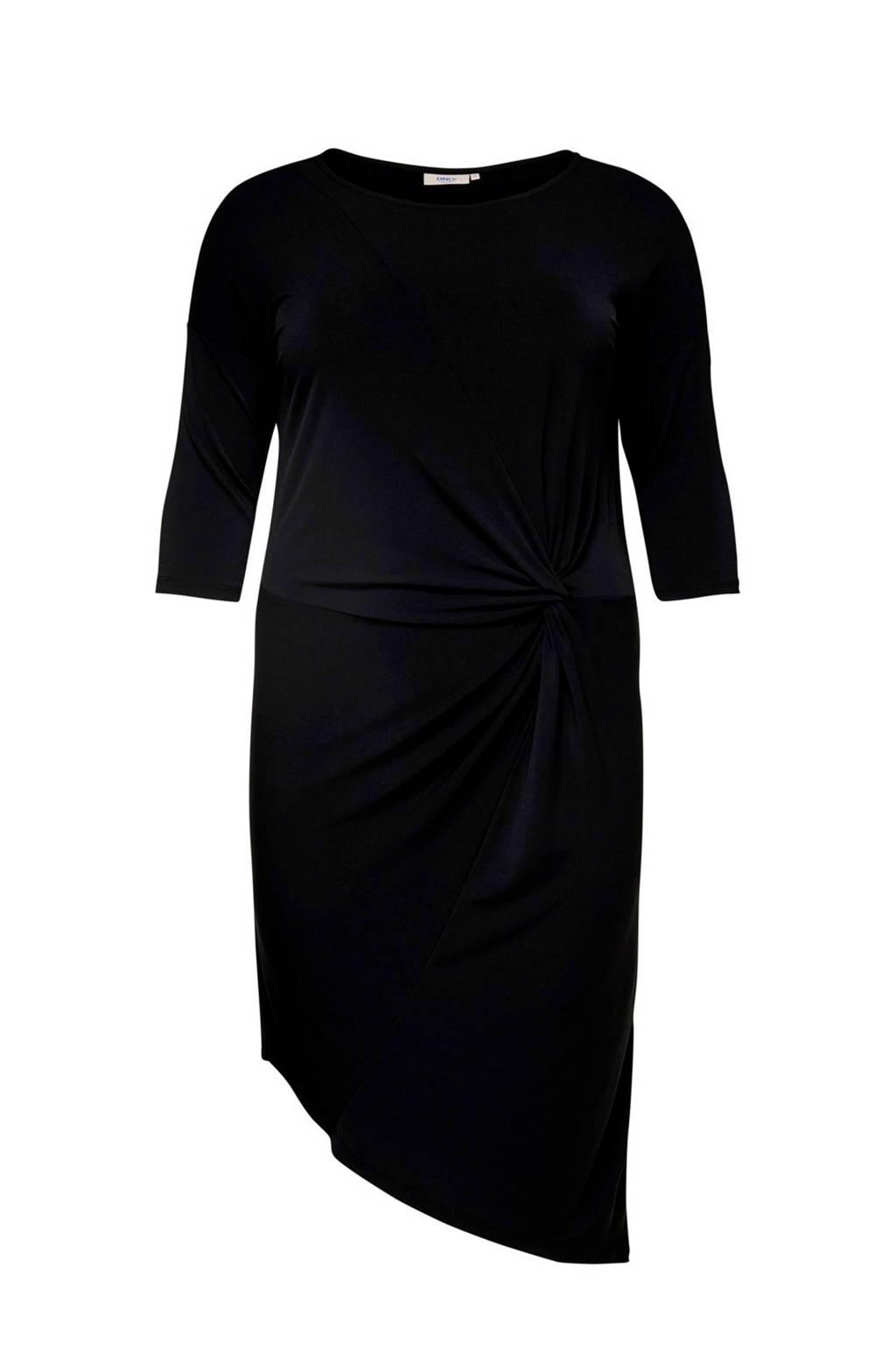 ONLY carmakoma jersey jurk zwart, Zwart