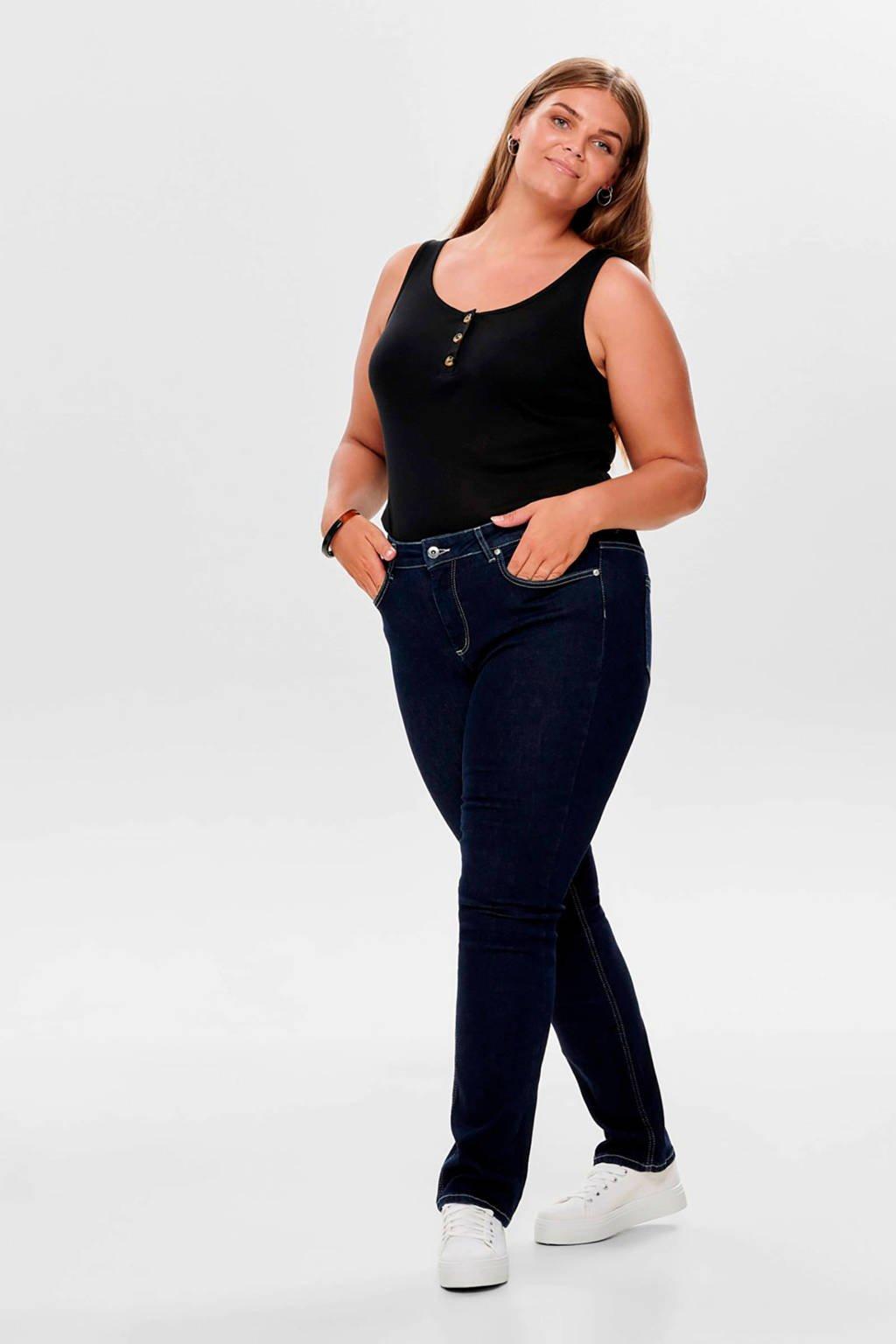 ONLY carmakoma high waist skinny jeans, Donkerblauw