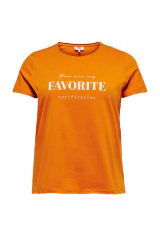 T-shirt met tekst goud