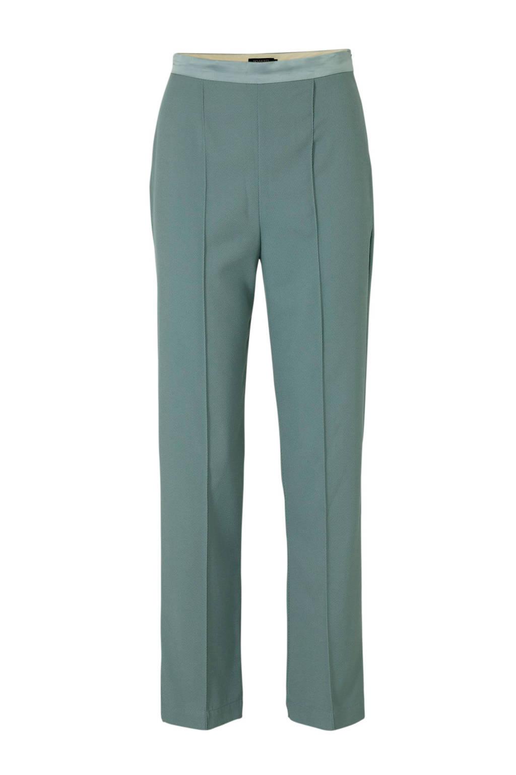Soaked In Luxury high waist straight fit broek Beatrix groen, Groen