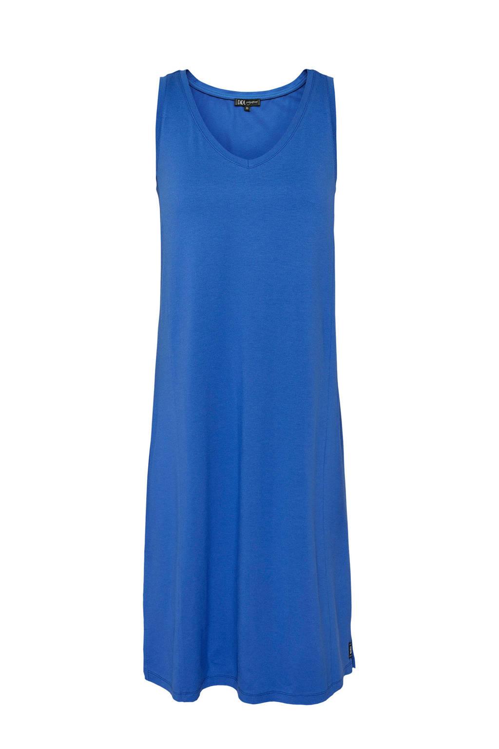 Didi jurk met V-hals blauw, Blauw