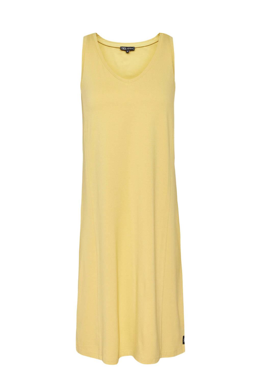 Didi jurk met V-hals geel, Geel