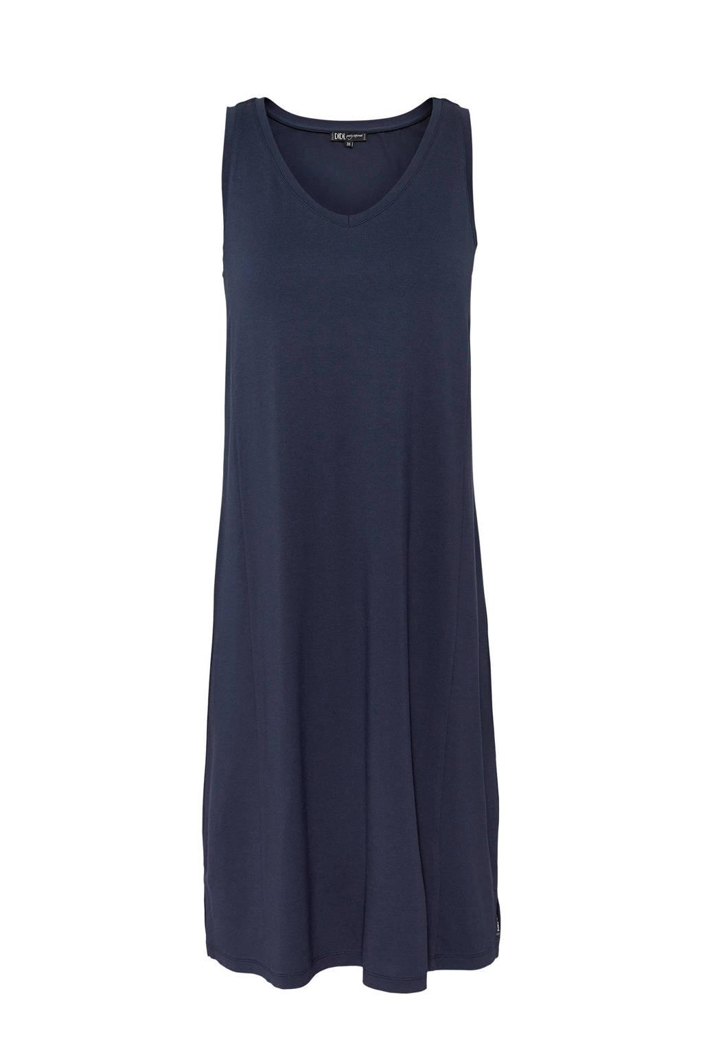 Didi jurk met V-hals donkerblauw, Donkerblauw