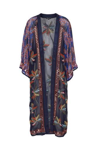 kimono met borduursels en pailletten