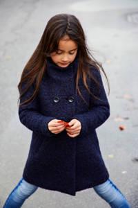 KIDS ONLY gemêleerde winterjas Sophia donkerblauw melange, Donkerblauw melange