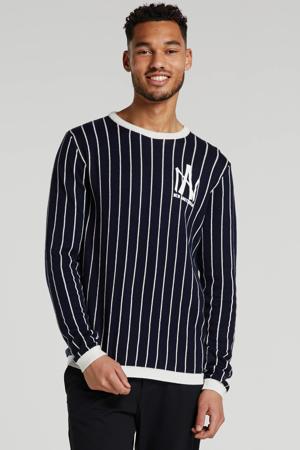 gestreepte trui zwart/wit