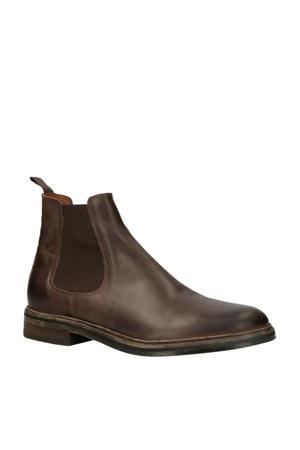 Chet Gylmar Coffee leren chelsea boots donkerbruin