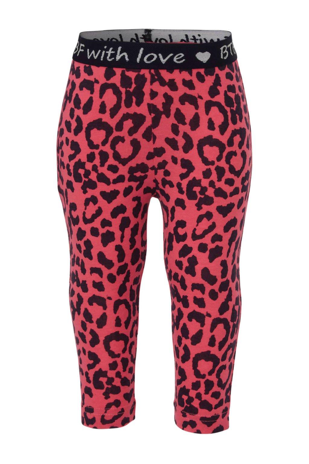 born to be famous. legging met panterprint roze/ zwart