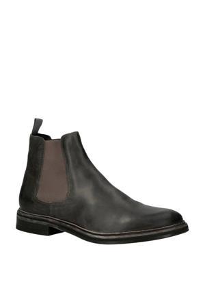 Chet Gylmar Smoke leren chelsea boots antraciet