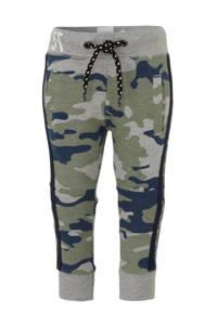 born to be famous.   joggingbroek met camouflageprint groen/ grijs melange/ blauw, Groen/ grijs melange/ blauw