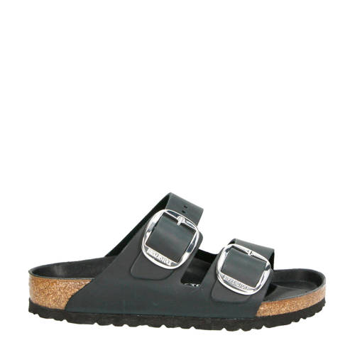 Birkenstock Arizona Big Buckle leren slippers zwar
