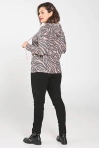 Paprika hoodie met zebraprint roze, Roze