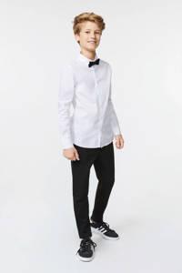 WE Fashion slim fit broek Wade zwart, Zwart