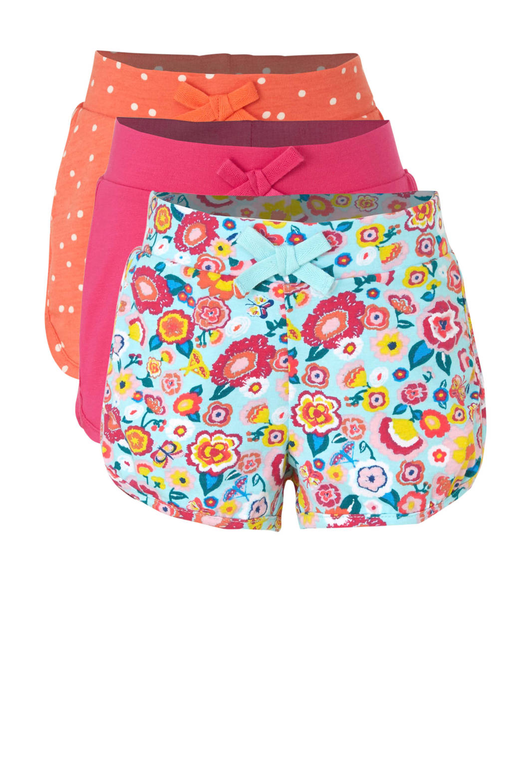 C&A Palomino sweatshort met all over print blauw/roze/oranje, Blauw/roze/oranje