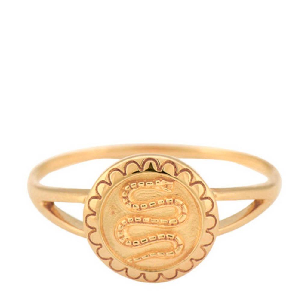 ANNA + NINA gouden ring 19-1M90800G, Goudkleurig
