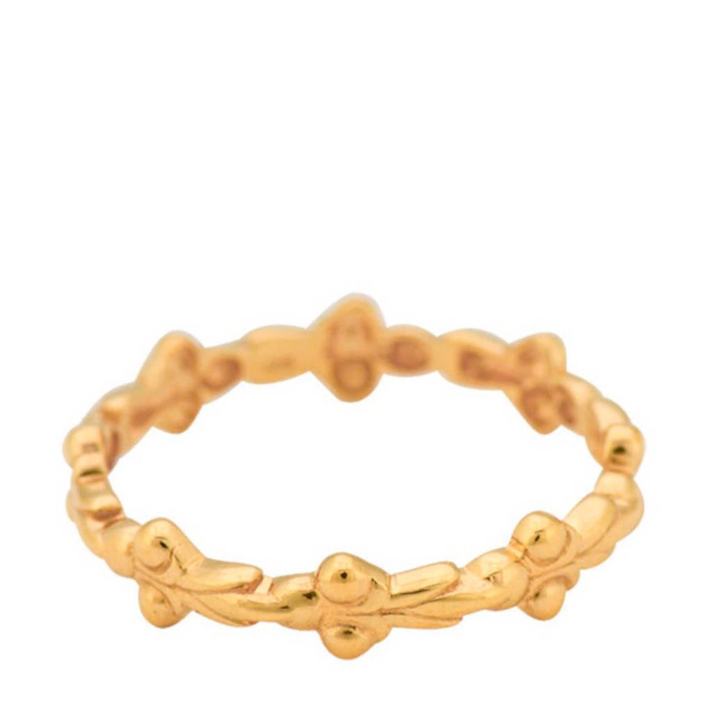 ANNA + NINA gouden ring 19-1M90801G, Goudkleurig