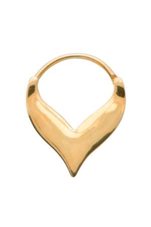 Gouden Single Flame Oorbel 18-2M902008G