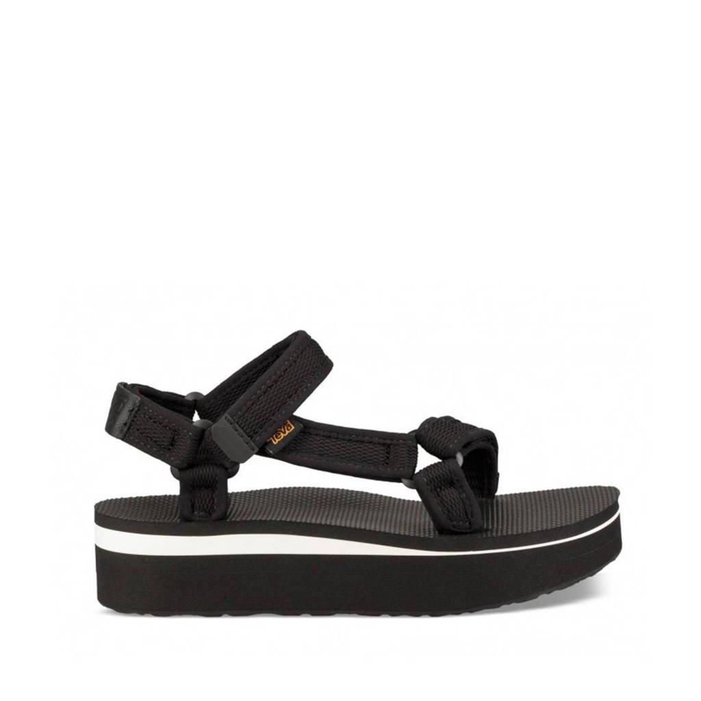 Teva  Flatform Flatform plateau sandalen zwart, Zwart