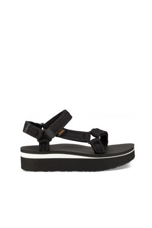 Flatform Flatform plateau sandalen zwart