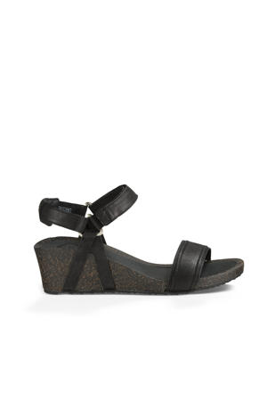 Ysidro Stitch Wedge Ysidro Stitch Wedge leren sandalettes zwart