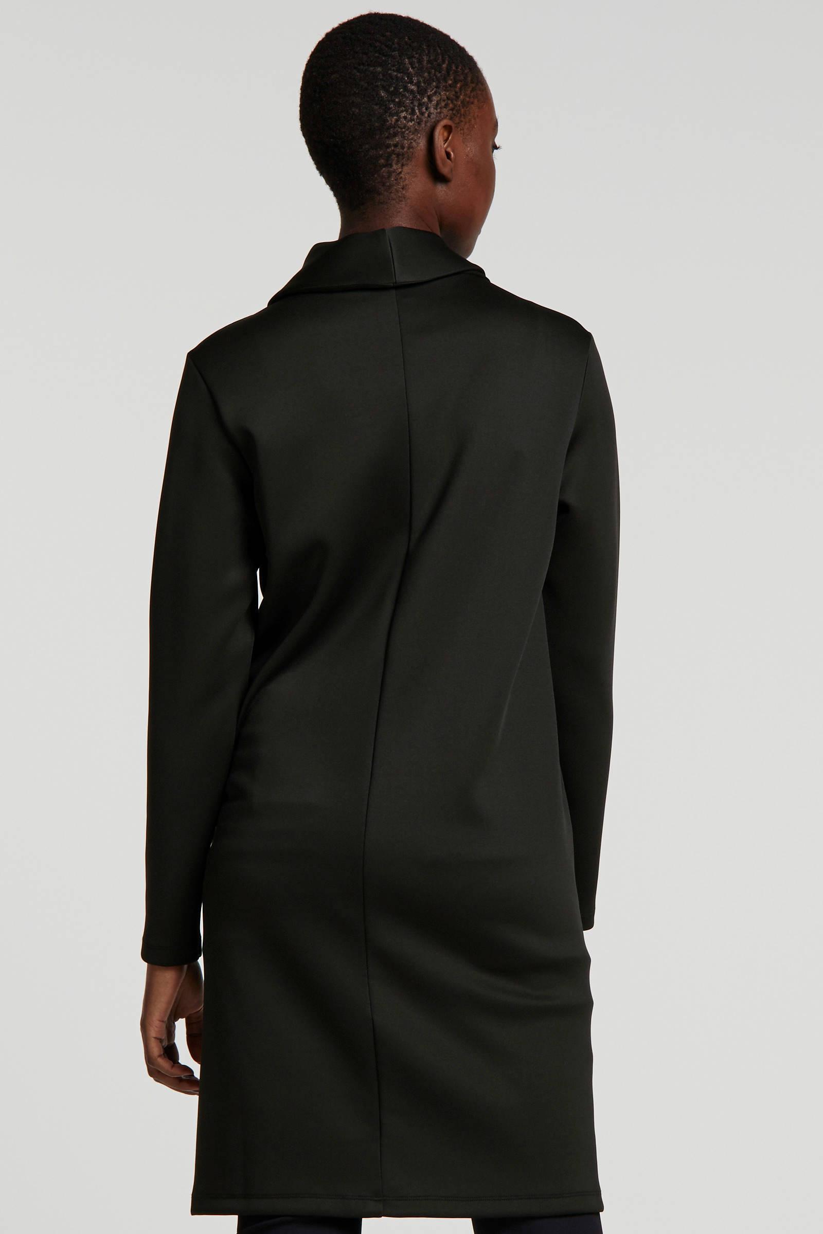 10DAYS jersey jurk van travelstof zwart