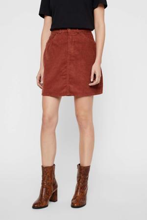 corduroy rok rood