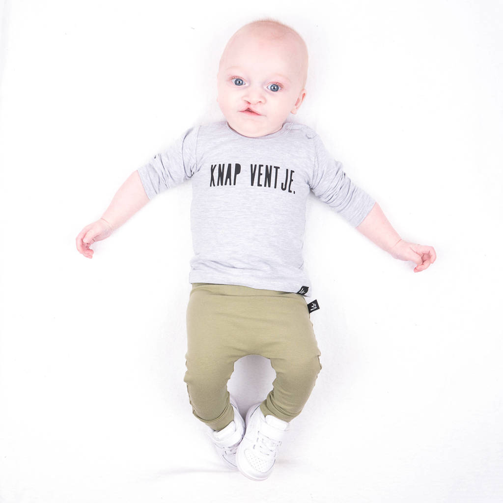 Babystyling baby broek Criss legergroen, Legergroen