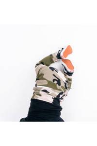 Babystyling broek met camouflageprint kaki/zwart, Kaki/zwart
