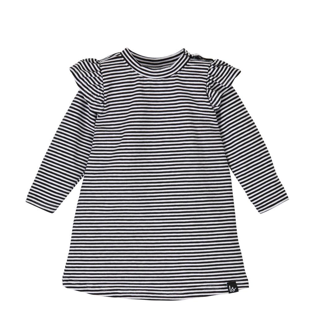 Babystyling gestreepte jurk zwart/wit, Zwart/wit