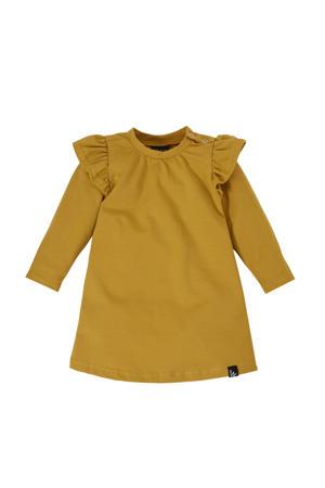 baby jurk met biologisch katoen okergeel