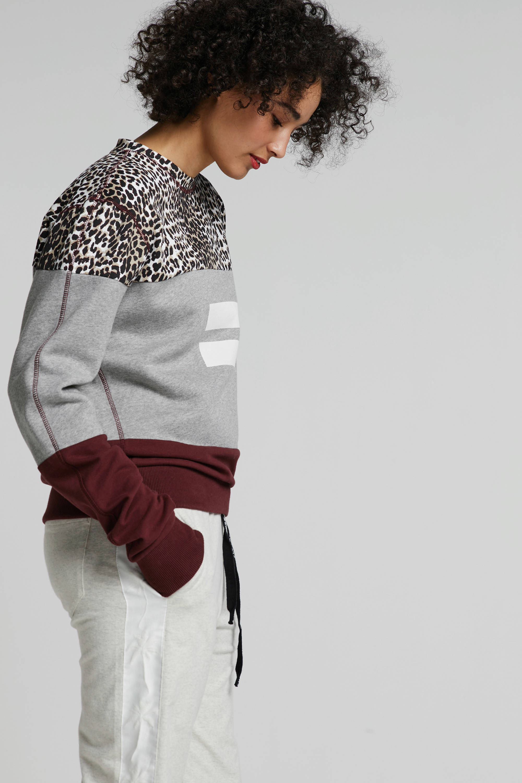 10DAYS sweater met dierenprint