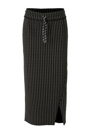 asymmetrische rok gestreept
