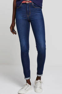 Levi's Mile high waist skinny jeans donkerblauw, Donkerblauw