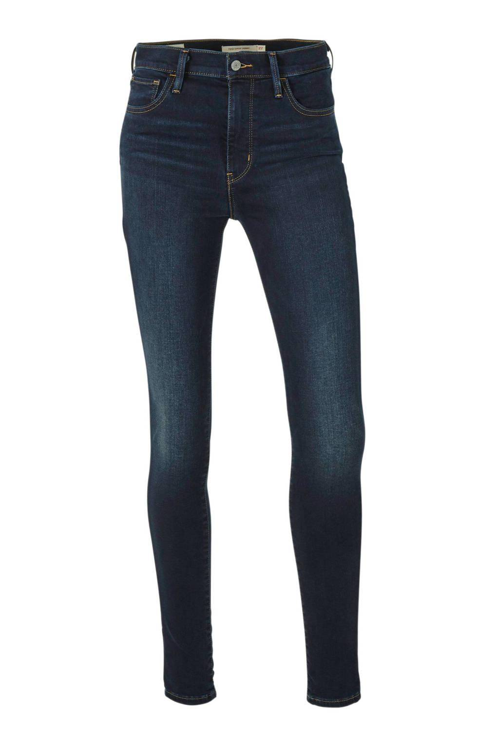 Levi's 720 high waist skinny jeans dark denim, Dark denim