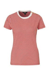 Lauren Ralph Lauren gestreept T-shirt rood/wit