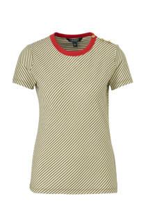 Lauren Ralph Lauren gestreept T-shirt groen/wit/rood