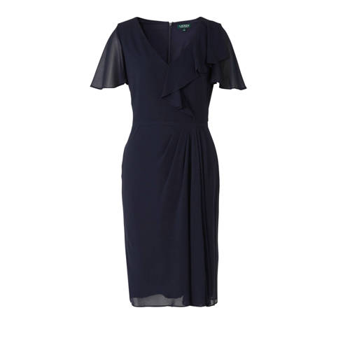 Lauren Ralph Lauren Cutler jurk donkerblauw met vo