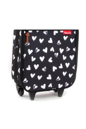trolley zwart met hartjes