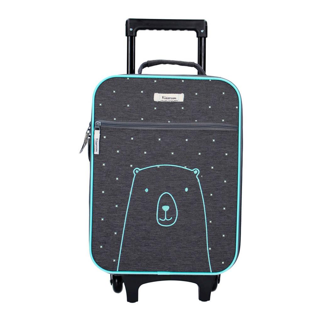 Kidzroom trolley blauw, Blauw met witte stippen