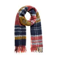PIECES geruite sjaal, Rosé