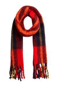 PIECES geméleerd sjaal rood, Rood