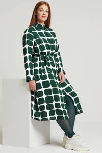Zoey jurk met all over print groen, Groen