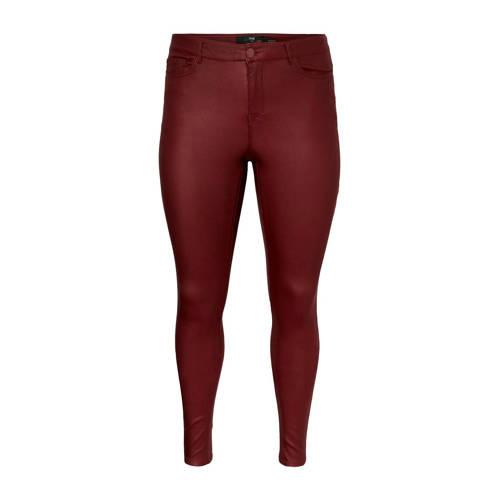 JUNAROSE coated skinny broek rood