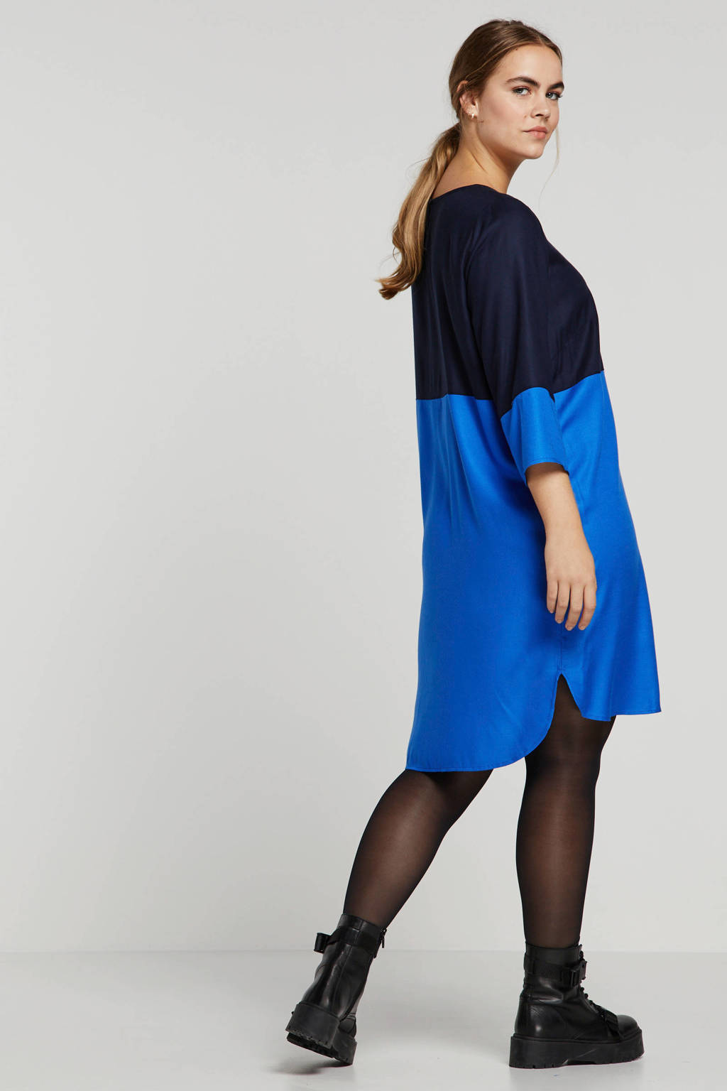 JUNAROSE jurk blauw, Blauw