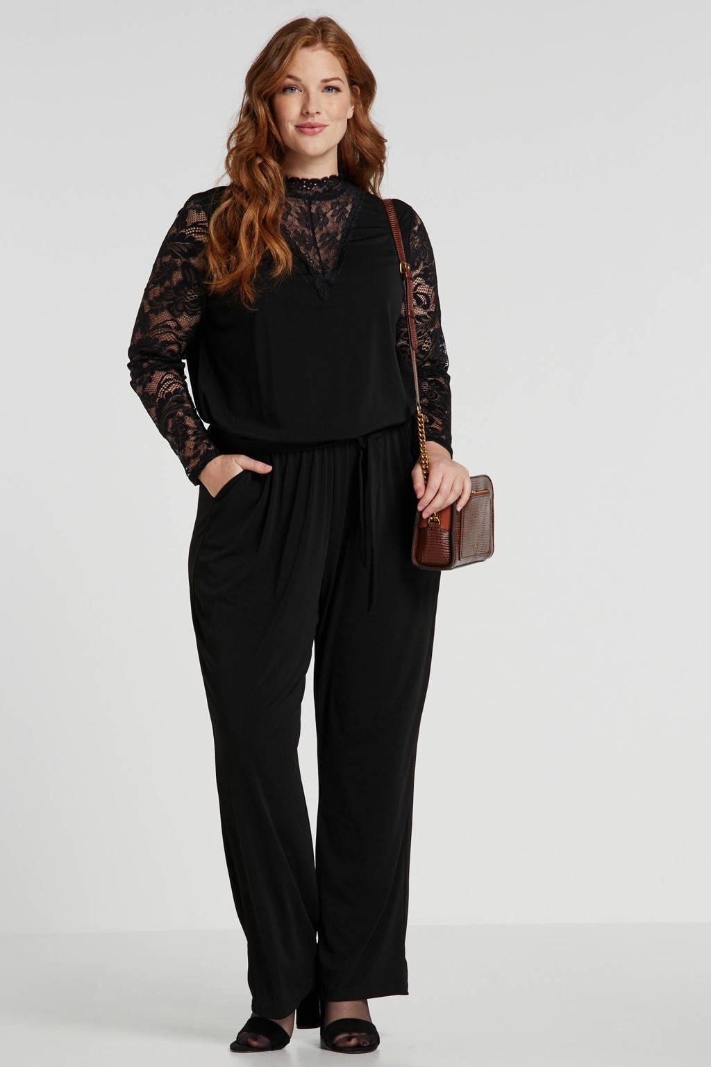 JUNAROSE jumpsuit zwart, Zwart