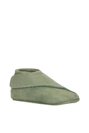 Walker Loafer leren babyschoentjes groen